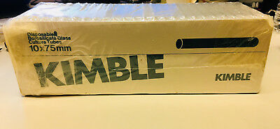 Kimble Disposable Culture Tubes, Borosilicate Glass, 10x75mm, approx. 200 tubes