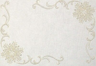 Winter Snowflake Embroidered Quilt Label Customize for quilt top or block