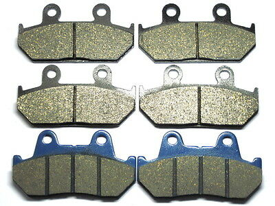 Front Rear Brake Pads For Honda GL 1500 Goldwing 1988-1989 BRAKES GL1500 SET TOP