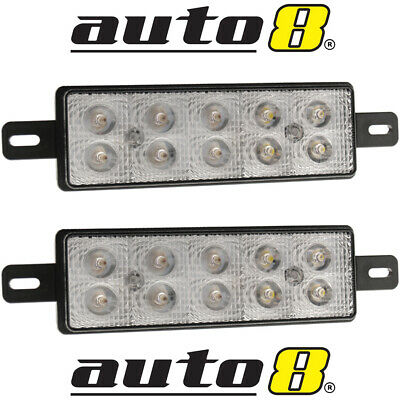 Set Of 2 Front Led Indicator Park & Drl Bullbar Lights To Fit Most Arb  Light