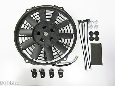 "9"" / 22cm Universal Radiator Electric Cooling Fan with Fitting Kit (Slimline)"
