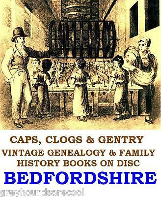 Bedfordshire Beds Genealogy History Topography 24 Vintage Books on a Data Disc