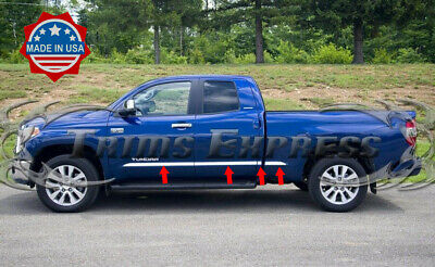 2007-2018 Toyota Tundra Double/Extended Cab Short Bed Body Side Molding Trim 8Pc