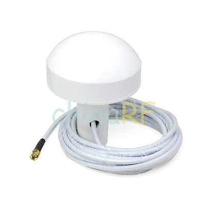 GPS Active Marine/Navigation Antenna 5 meter with SMA plug male connector New