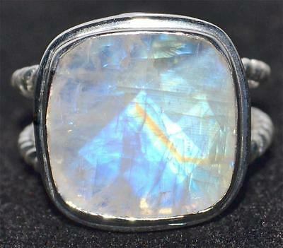 Mystic Moonstone Rings 925 Sterling Silver Ring Size L,M,N,O,P,Q,R,S,T,U,V,W,X,Y