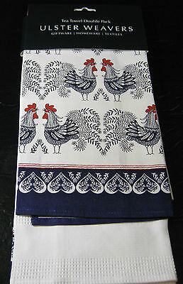 "SET OF 2 TEA TOWELS BY ULSTER WEAVERS- ASSORTED PATTERNS - 19"" X 29"" - NEW"