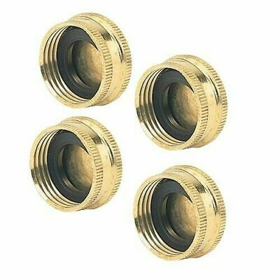 Lot of 4 Green Thumb 581225 Solid Brass Garden Hose Cap with Washer