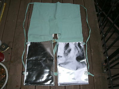 Men's Steel Grip Usa Made Flame Resistant Welding Chaps/aprons  Aluminized