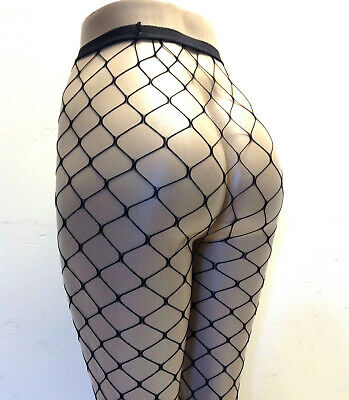 Leg Avenue 9905 Tights Fence Net Pantyhose Open Fishnet Plus Size Queen Black