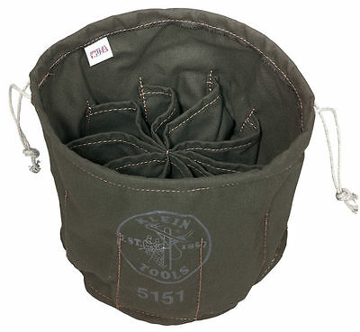Klein Tools 5151 Ten Compartment Drawstring Canvas Bag