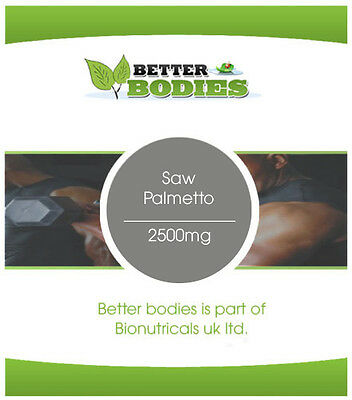 High Strength Saw Palmetto 2500mg Capsules Vegetarian Friendly Made In UK