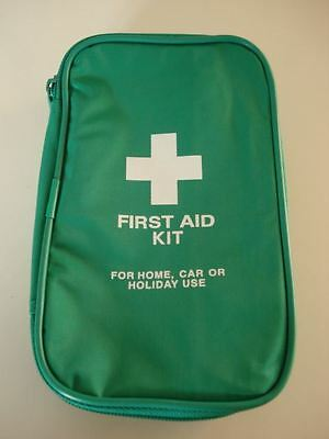 "Empty Green - ""FIRST AID KIT"" printed in White Pouch - Brand New - Free P&P"
