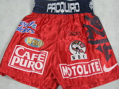 MANNY PACQUIAO Hand Signed Boxing Trunks  Shorts