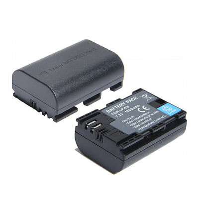 2PCS LP-E6 Fully Decoded Battery Pack for Canon LPE6 7D 60D 5D Camera UK