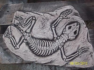 Large Lizard Fossil Stepping Stone/Wall Plaque Garden Ornament Latex Mould/Mold