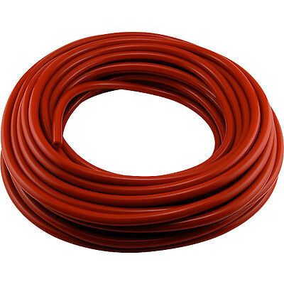"Red Air Line 5/16"" I.D. Vinyl Hose - 100' Coil - Draft Beer Kegerator CO2"