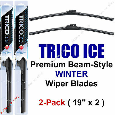 "2-Pack Trico ICE 35-190 19"" WINTER Wiper Blades Super-Premium Beam Wiper Blades"