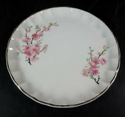 """W. S. George Peach Blossom 6-3/4"""" Bread & Butter Plate"""