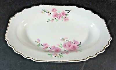 "W. S. George Peach Blossom 7-1/2"" Relish Tray"