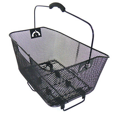 Bikecorp Bicycle Rear Wire Bike Basket Mesh Black