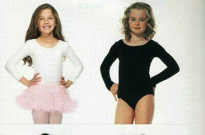 Leg Avenue 73011 Childrens Body Suit Dance Leotard Girls M L XL White or Black