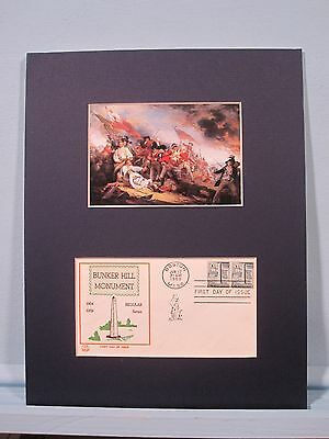 The Battle of Bunker Hill painted by John Trumbull & First day Cover