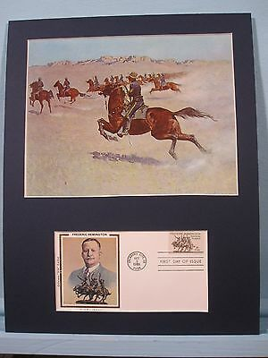 """The Pursuit"" painted by Frederic Remington & First Day Cover"