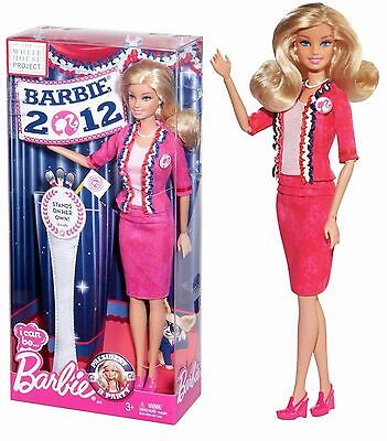 Barbie I Can Be President Blonde Doll WHITE HOUSE PROJECT 2011 X5323  Doll  NEW