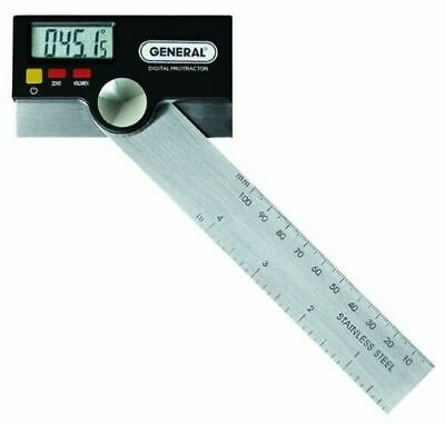 "General Tools 1702 Digital Protractor w/ LCD Display & 6"" Stainless Pivoting Arm"