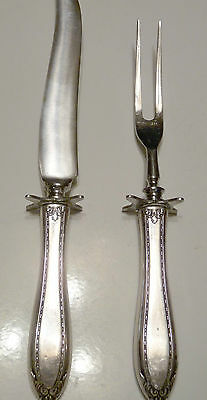 Vintage Silver Plate and Stainless Carving Set