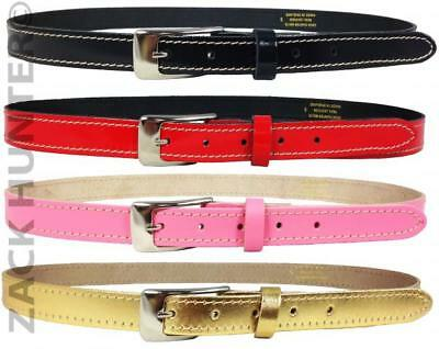 "New Ladies Leather Skinny Belts Ladies Stylish Leather Belt 29"" To 47"" Waist"