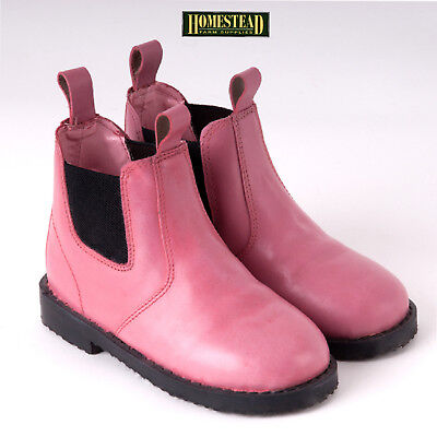 Rhinegold Little Tots Childrens Jodhpur Boots - Pink - Sizes Infant 4 - 10