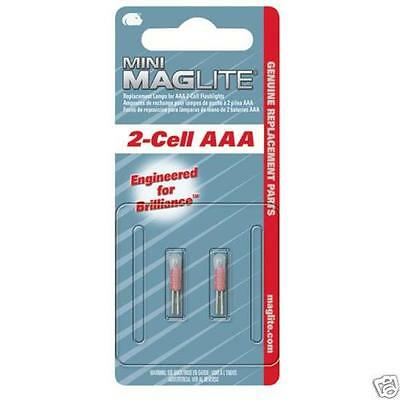 Maglite Mini LM3A001 2 Cell AAA Pack of 2 Mag Bulbs