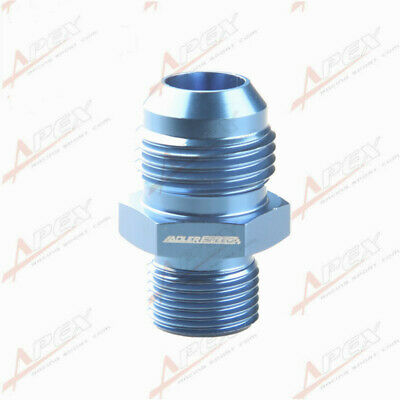 Male -10 AN 10AN To M18 x 1.5 ( mm ) Metric Straight Fitting Blue