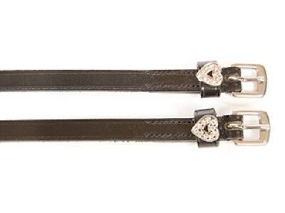 Leather Spur straps with diamante detail ( horse bling equestrian crystal )