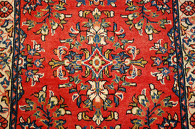 c1930s ANTIQUE HIGHLY DETAILED FINE PERSIAN SAROUK RUG 2.4x4.5 BEAUTY