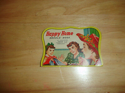 Old Vtg Collectible Happy Home Needle Book 3 Women on Cover Made in Japan