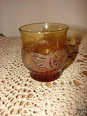 1 Retro Amber Tumbler/Goblet By Libbey