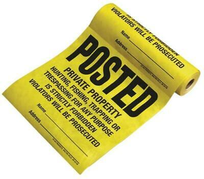Tyvek TSR-100 Posted Private Property No Trespassing Sign 100 Count Roll