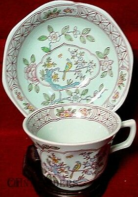 ADAMS china SINGAPORE BIRD later pattern CUP and SAUCER Set