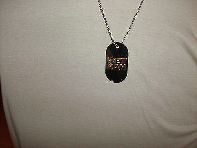 Military Vietnam Dog Tag With Chain