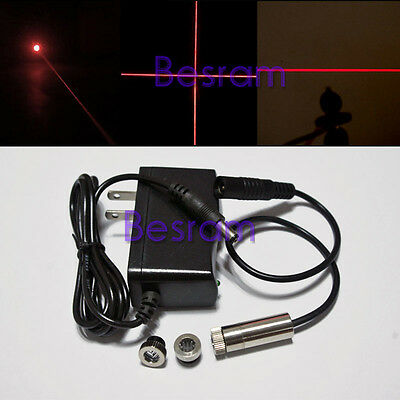 3in1 30mW Focusable Red Laser Module Diode 650nm 660nm DOT/LINE/CROSS w/ Adapter