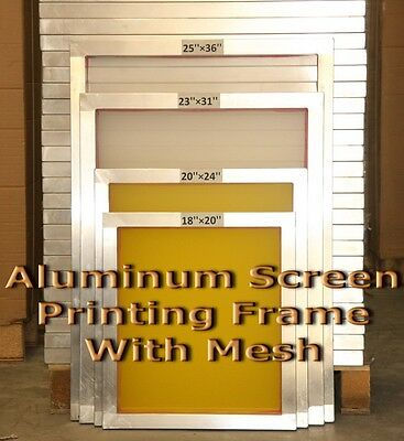 "6 Pack -18"" x 20""Aluminum Screen Printing Screens With 130 mesh count"