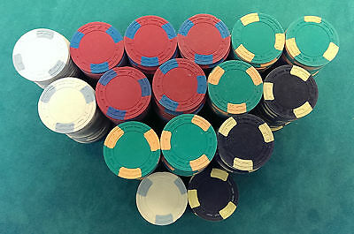 300 AMERICAN MOLD CASINO GRADE 100% CLAY CHIP SET - CAN BE CUSTOM HOT STAMPED