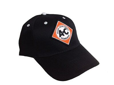 Allis Chalmers Tractor 6 Panel Black Hat w/ sandwich brim - Cap Gift Fits Most