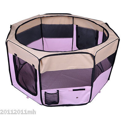 "49.2"" Large Pet Playpen Pen Exercise Puppy Portable Kennel Tent Crate"