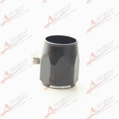 AN-6 AN6 Black Fuel Hose Clamp Finisher HEX Finishers