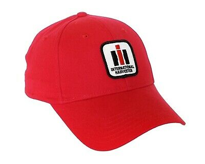 International Harvester Tractor Solid Red Hat Cap Hat Gift IH