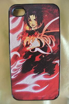 USA Seller Apple iPhone 4 & 4S  Anime Phone case  Cover Naruto Sasuke Uchiha