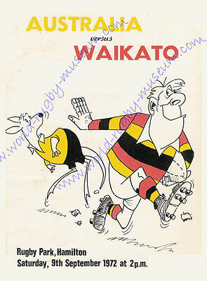 WAIKATO v AUSTRALIA 9th September 1972 SUPERB RUGBY POSTER - A2 SIZE